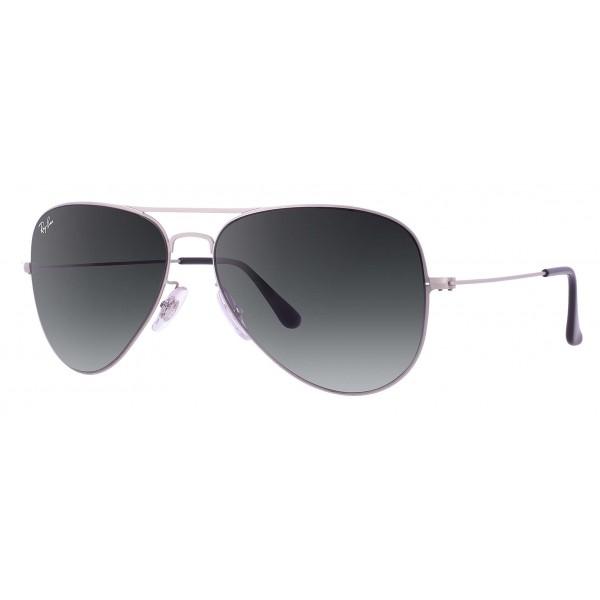 Ray-Ban - RB3513 154/8G - Original Aviator Flat Metal - Argento - Lente Grigio Sfumata - Occhiali da Sole - Ray-Ban Eyewear
