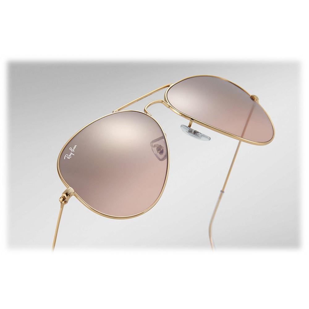 ray ban aviator pink gold gradient mirror