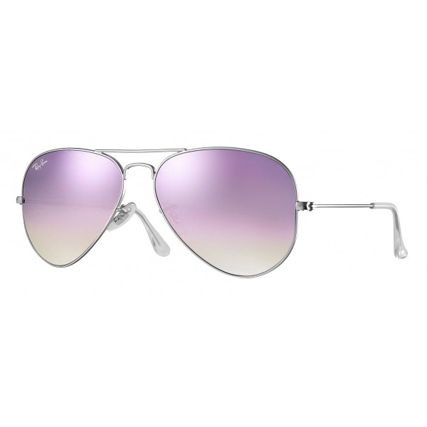 Ray-Ban - RB3025 019/7X - Original Aviator Flash Lenses Gradient - Silver - Lilac Gradient Flash Lenses - Sunglasses - Eyewear