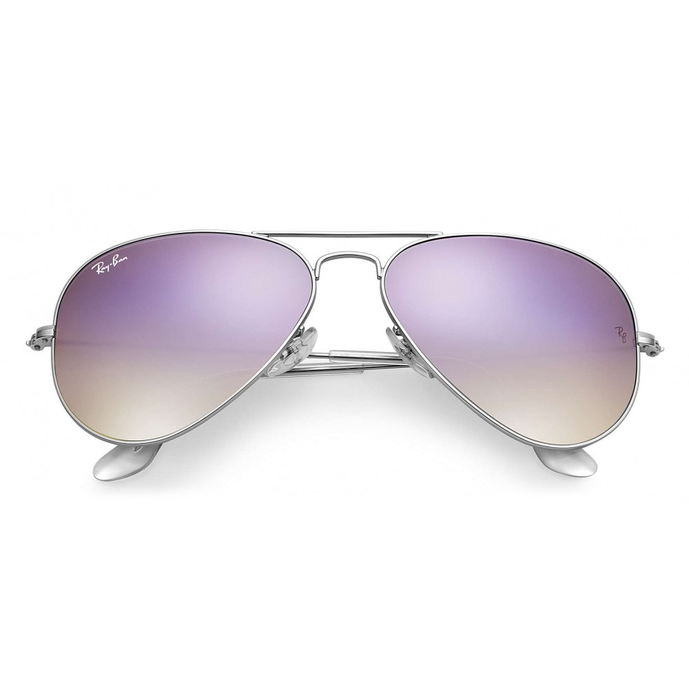 59aea734ef5 ... Ray-Ban - RB3025 019 7X - Original Aviator Flash Lenses Gradient -  Silver ...