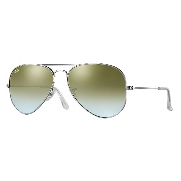 Ray-Ban - RB3025 019/9J - Original Aviator Flash Lenses Gradient - Silver - Green Gradient Flash Lenses - Sunglasses - Eyewear