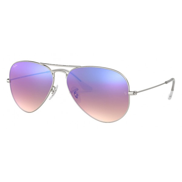 Ray-Ban - RB3025 019/8B - Original Aviator Flash Lenses Gradient - Silver - Blue Gradient Flash Lenses - Sunglasses - Eyewear