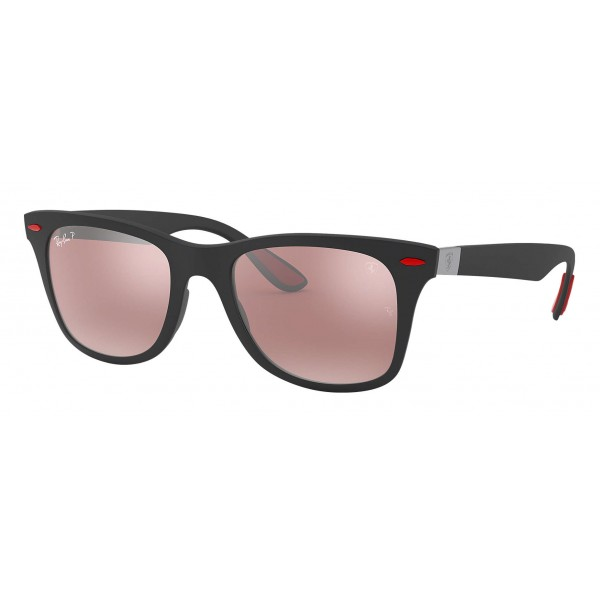 Ray-Ban - RB4195M F602H2 - Original Scuderia Ferrari Collection Wayfarer - Black - Polarized Silver Mirror - Sunglass - Eyewear