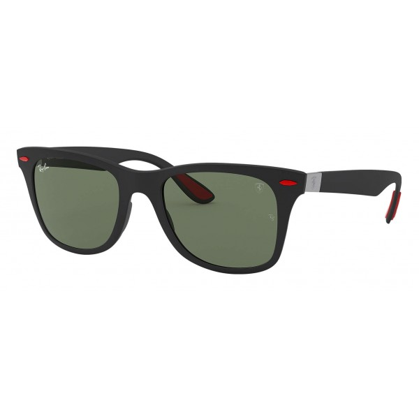 Ray-Ban - RB4195M F60271 - Original Scuderia Ferrari Collection Wayfarer - Black - Green Classic Lenses - Sunglass - Eyewear