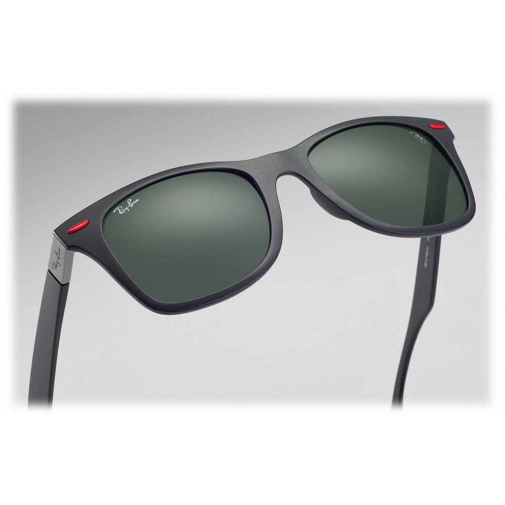 Ray Ban Rb4195m F60271 Original Scuderia Ferrari Collection Wayfarer Black Green Classic Lenses Sunglass Eyewear Avvenice