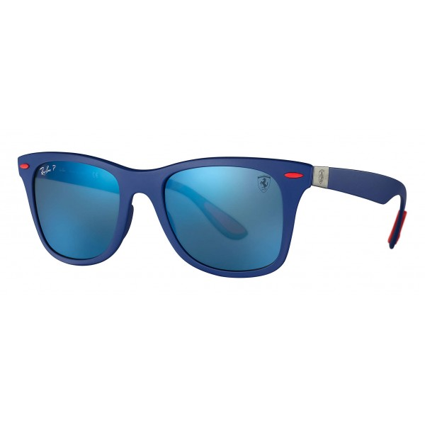 Ray-Ban - RB4195M F604H0 - Original Scuderia Ferrari Collection Wayfarer - Blue - Polarized Blue Mirror - Sunglass - Eyewear