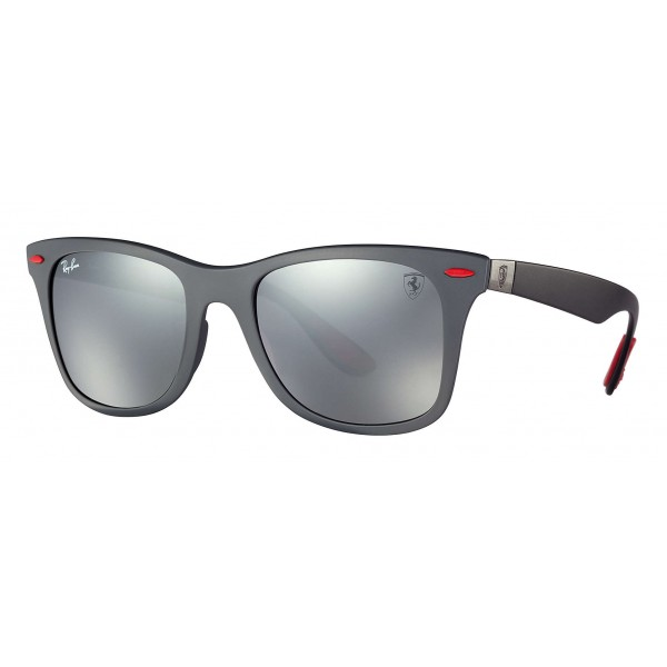 Ray-Ban - RB4195M F6056G - Original Scuderia Ferrari Collection Wayfarer - Grey Black - Grey Mirror Lenses - Sunglass - Eyewear