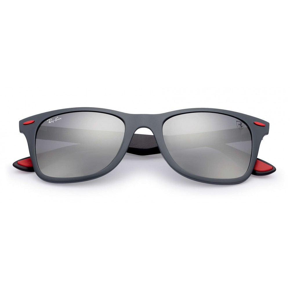 ce58a3c2f24b6 ... Ray-Ban - RB4195M F6056G - Original Scuderia Ferrari Collection Wayfarer  - Grey Black ...