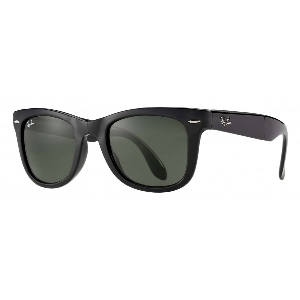 Ray-Ban - RB4105 601 - Original Wayfarer Folding Classic - Black - Green Classic G-15 Lenses - Sunglass - Eyewear