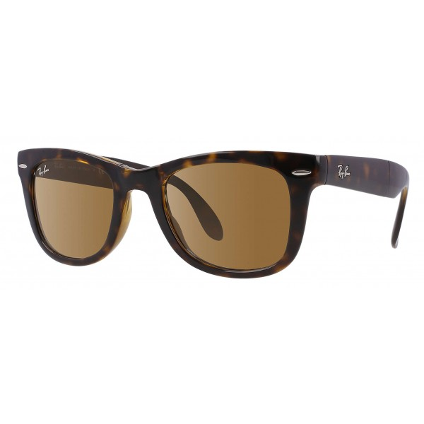 Ray-Ban - RB4105 710 - Original Wayfarer Folding Classic - Tortoise - Brown Classic B-15 Lenses - Sunglass - Ray-Ban Eyewear