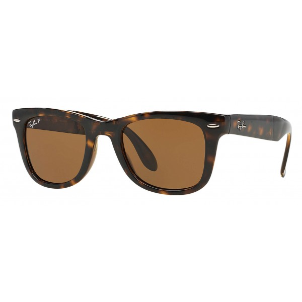 Ray-Ban - RB4105 710/57 - Original Wayfarer Folding Classic - Tortoise - Polarized Brown B-15 Lenses - Sunglass - Eyewear