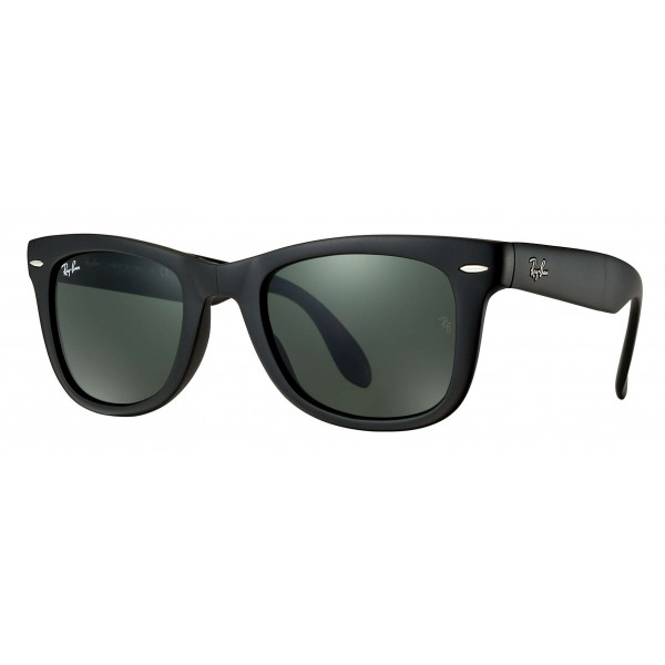Ray-Ban - RB4105 601S - Original Wayfarer Folding Classic - Black - Green Classic G-15 Lenses - Sunglass - Eyewear