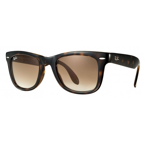 Ray-Ban - RB4105 710/51 - Original Wayfarer Folding Classic - Tortoise - Light Brown Gradient Lenses - Sunglass - Eyewear