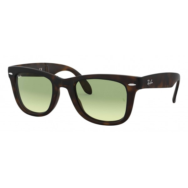 Ray-Ban - RB4105 894/4M - Original Wayfarer Folding Gradient - Tortoise - Green Gradient Lenses - Sunglass - Ray-Ban Eyewear