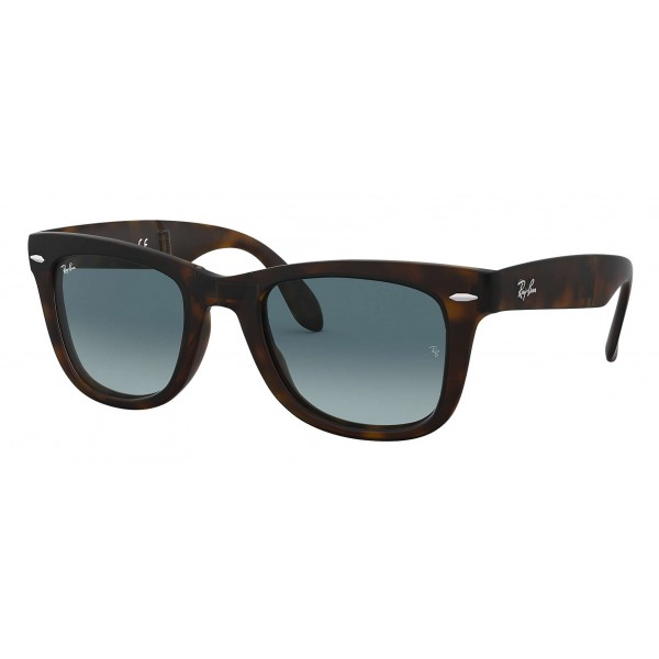 Ray-Ban - RB4105 894/3M - Original Wayfarer Folding Gradient - Tortoise - Blue Gradient Lenses - Sunglass - Ray-Ban Eyewear