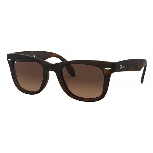 Ray-Ban - RB4105 894/43 - Original Wayfarer Folding Gradient - Tortoise - Brown Gradient Lenses - Sunglass - Ray-Ban Eyewear