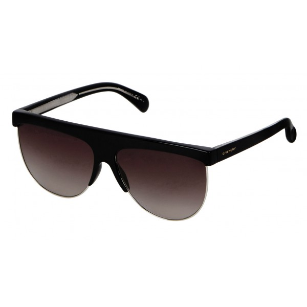 Givenchy - GV Squared Oversized Sunglasses in Acetate and Metal - Black - Sunglasses - Givenchy Eyewear