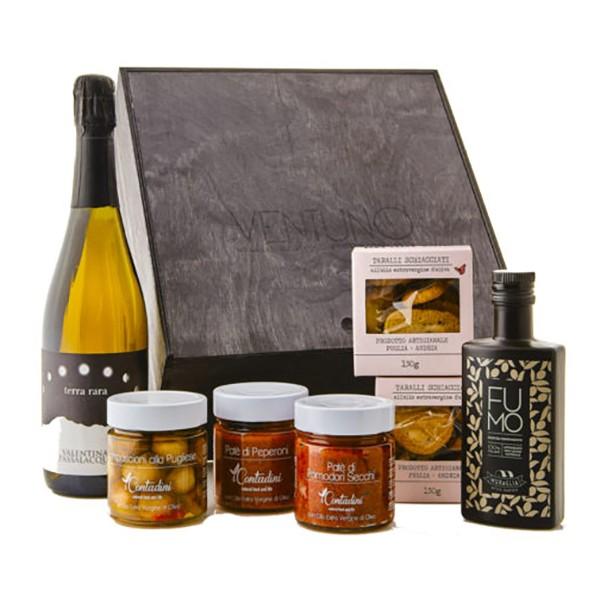 Ventuno - Puglia Gioia Aperitivo Food Box - Lampascioni - Taralli - Eccellenze Italiane - Gift Box Multisensoriale