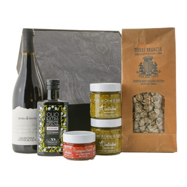 Ventuno - Puglia Incanto Cena Food Box - Orecchiette - Nero di Troia - Eccellenze Italiane - Gift Box Multisensoriale