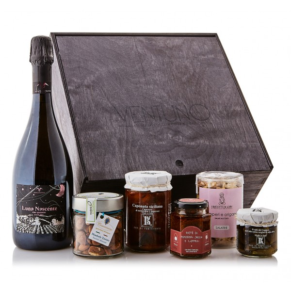 Ventuno - Sicily Joy Aperitif - Gioia Aperitivo Food Box - Capers - Paté - Italian Excellences - Multisensorial Gift Box