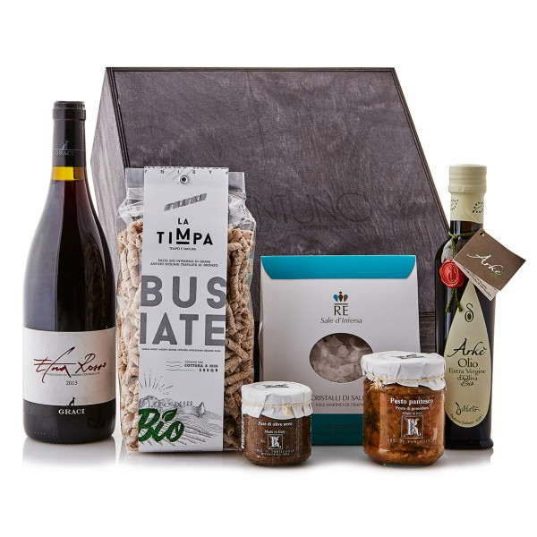 Ventuno - Sicilia Incanto Cena Food Box - Pesto Pantesco - Busiate - Eccellenze Italiane - Gift Box Multisensoriale
