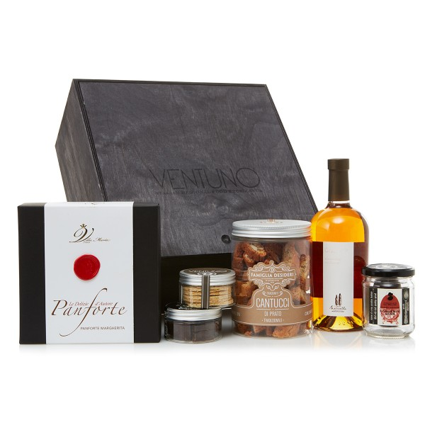 Ventuno - Tuscany Sweet Fancy - Capriccio Dolce Food Box - Cantucci - Vin Santo - Italian Excellences - Multisensorial Gift Box