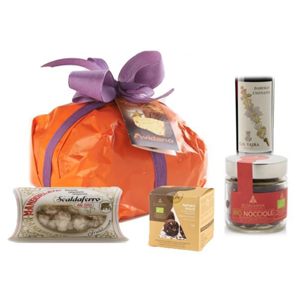 Ventuno - Natale al Nord con Barolo Chinato Vajra Food Box - Panettone - Eccellenze Italiane - Gift Box Multisensoriale