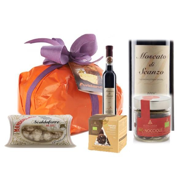 Ventuno - Natale al Nord con Moscato di Scanzo D.O.C.G. Food Box - Panettone - Eccellenze Italiane - Gift Box Multisensoriale