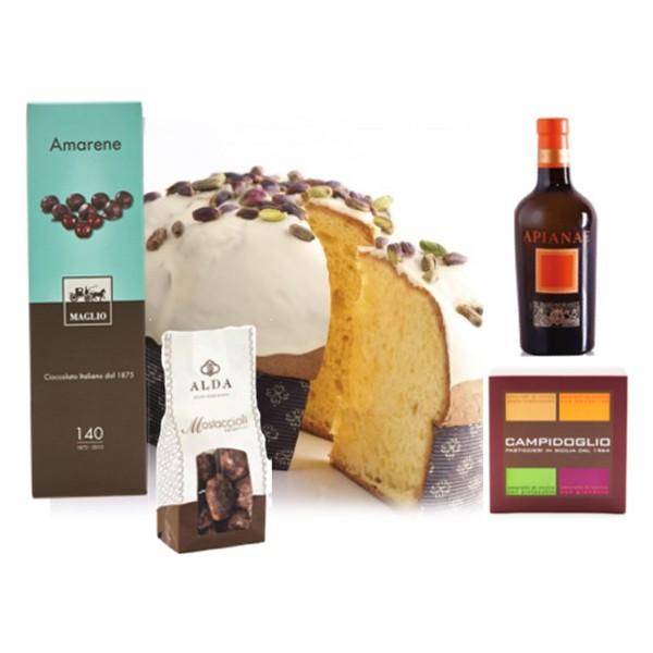 """Ventuno - Natale al Sud con Moscato Reale """"Apianae"""" Food Box - Panettone - Eccellenze Italiane - Gift Box Multisensoriale"""