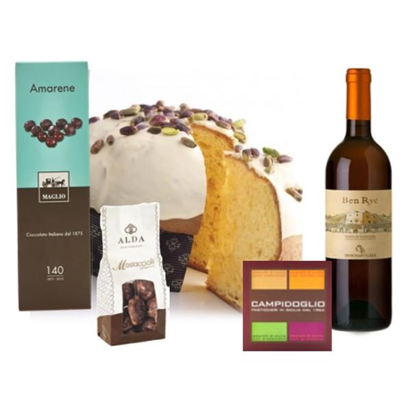 Ventuno - Natale al Sud con Passito di Pantelleria Food Box - Panettone - Eccellenze Italiane - Gift Box Multisensoriale