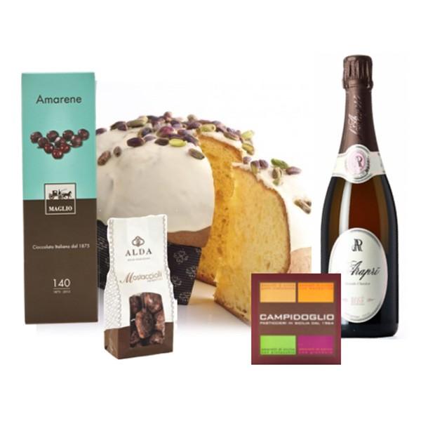 Ventuno - Natale al Sud con Spumante Rosé Brut D'Araprì Food Box - Panettone - Eccellenze Italiane - Gift Box Multisensoriale