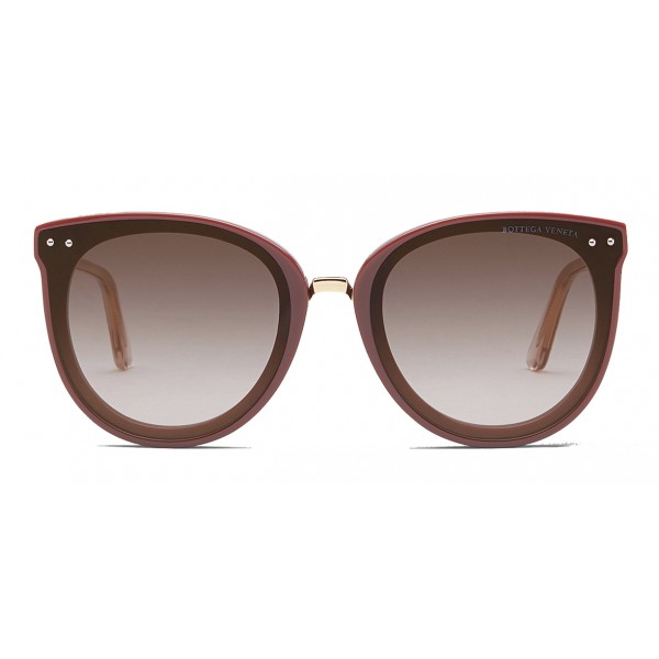 Bottega Veneta - Occhiali da Sole Pantos in Acetato e Metallo - Brown Nude - Occhiali da Sole - Bottega Veneta Eyewear