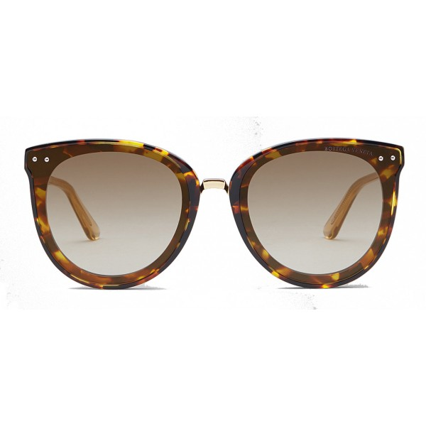 Bottega Veneta - Acetate and Metal Pantos Sunglasses - Brown Havana - Sunglasses - Bottega Veneta Eyewear
