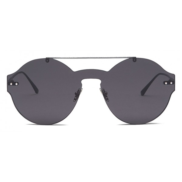 Bottega Veneta - Nylon Classic Sunglasses - Ruthenium Black Gray - Sunglasses - Bottega Veneta Eyewear