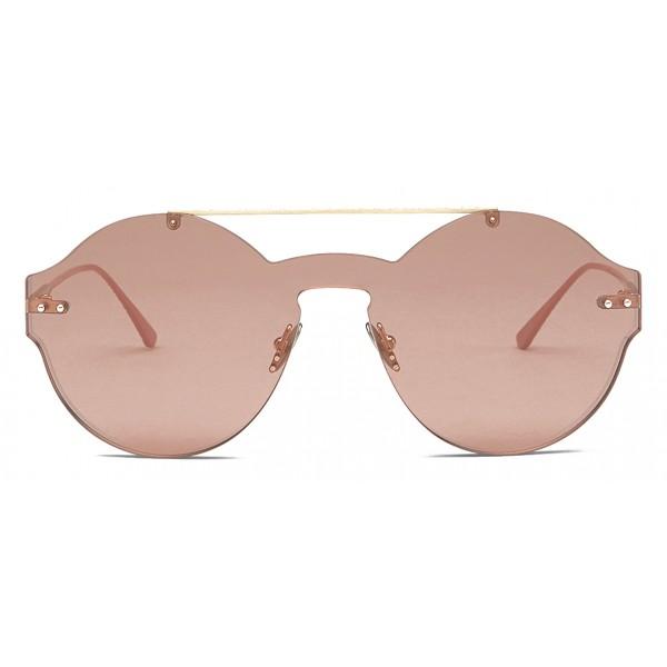 Bottega Veneta - Occhiali da Sole Classico in Nylon - Gold Pink - Occhiali da Sole - Bottega Veneta Eyewear