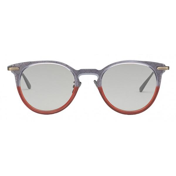 1ad0ae27e Bottega Veneta - Acetate Round Sunglasses - Grey Transparent - Sunglasses - Bottega  Veneta Eyewear - Avvenice
