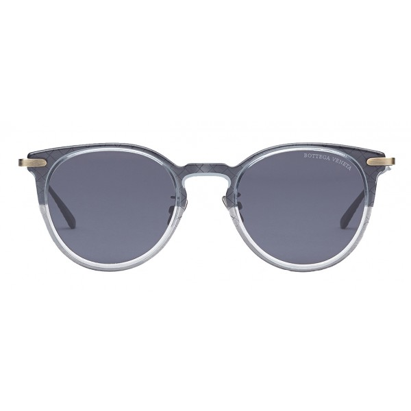 Bottega Veneta - Occhiali da Sole Rotondi in Acetato - Grey Black - Occhiali da Sole - Bottega Veneta Eyewear