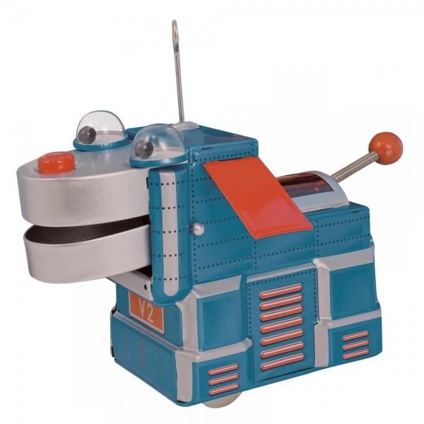 Saint John - V2 Space Dog Cane Spaziale - Giocattolo di Latta Retro da Collezione a Carica - Azzurro - Tin Toys