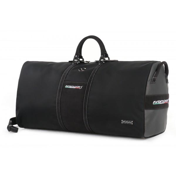 f5f8c8696ee6 TecknoMonster - Automobili Lamborghini - Aventador S Bag in Carbon Fiber  and Alcantara® - Black Carpet Collection - Avvenice