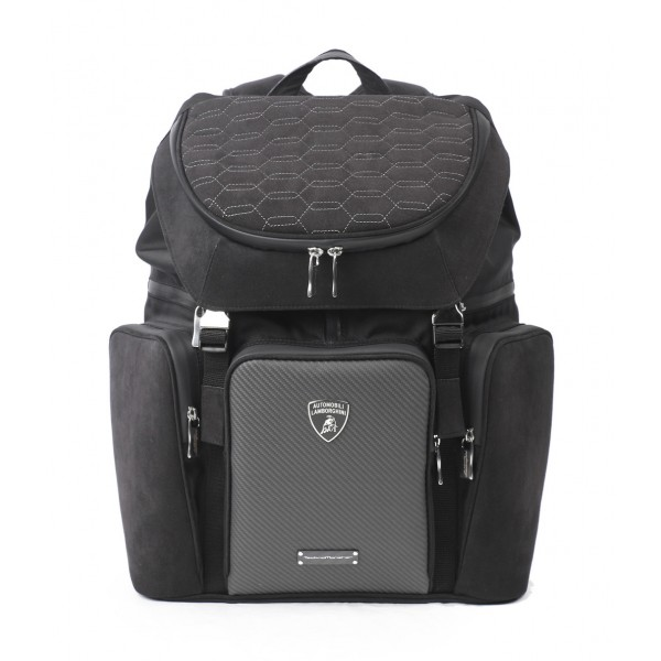 TecknoMonster - Automobili Lamborghini - Klimber Backpack in Carbon Fiber and Alcantara® - Black Carpet Collection