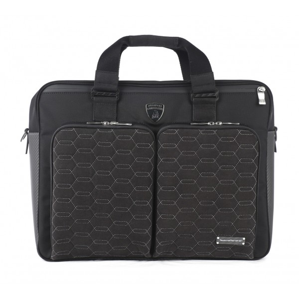 TecknoMonster - Automobili Lamborghini - Surcloud Bag in Carbon Fiber and Alcantara® - Black Carpet Collection