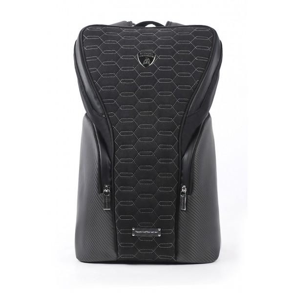 TecknoMonster - Automobili Lamborghini - Zangolo Backpack in Carbon Fiber and Alcantara® - Black Carpet Collection