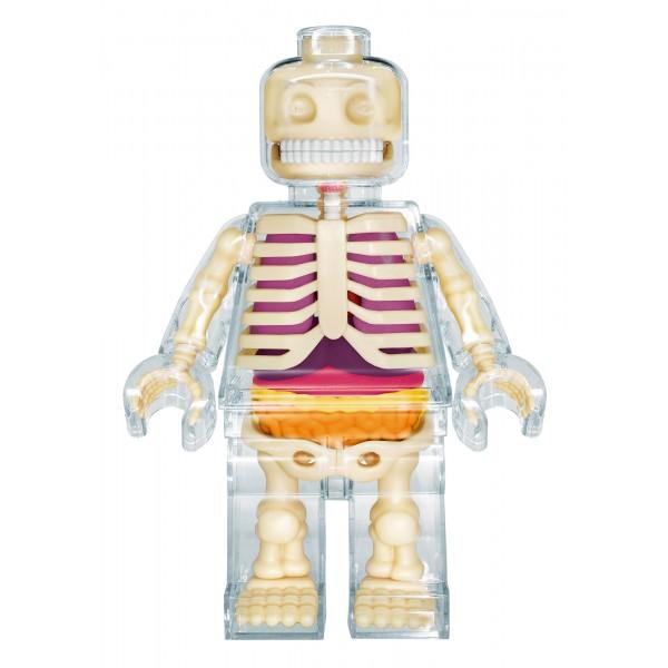 Fame Master - Brick Man - Clear - 4D Master - Mighty Jaxx - Jason Freeny - Body Anatomy - XX Ray - Art Toys