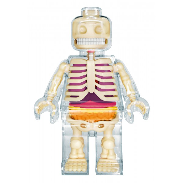 Fame Master - Brick Man - Lego - Clear - 4D Master - Mighty Jaxx - Jason Freeny - Body Anatomy - XX Ray - Art Toys