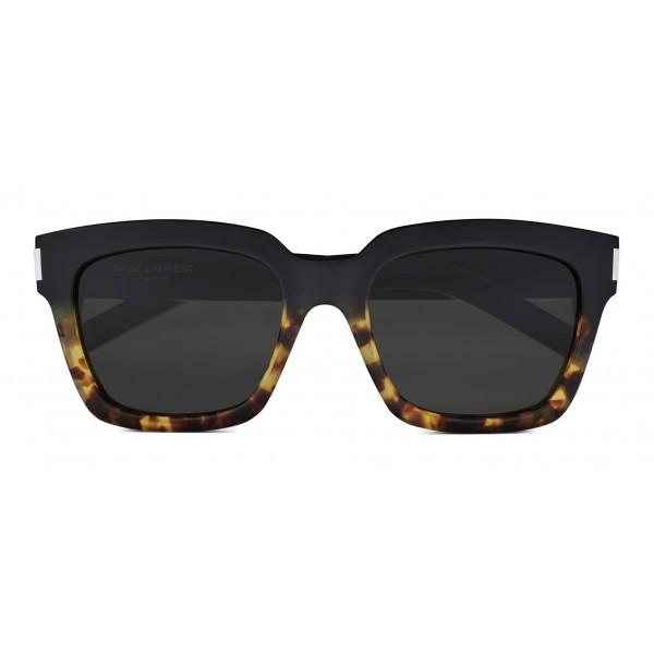 Yves Saint Laurent - Occhiali da Sole Bold SL1 con Montatura Spessa Quadrata - Nylon Neri e Havana - Saint Laurent Eyewear