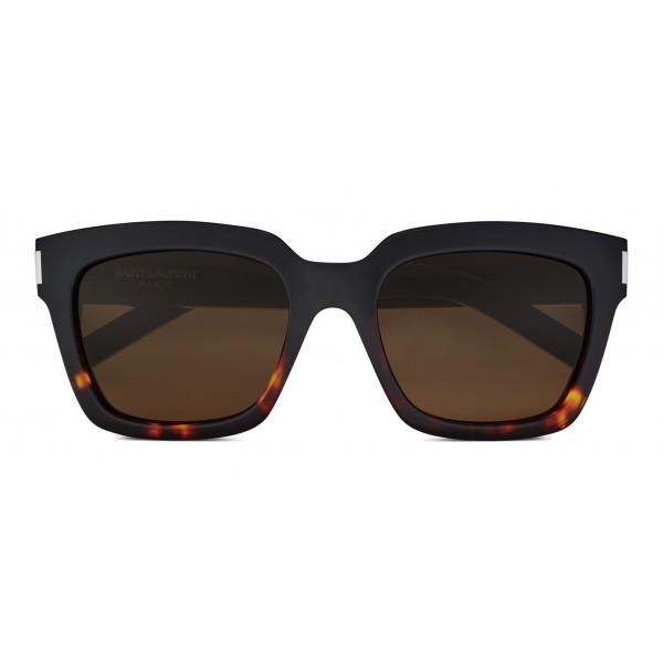 Yves Saint Laurent - Occhiali da Sole Bold SL1 con Montatura Spessa Quadrata - Nylon Marrone e Havana - Saint Laurent Eyewear