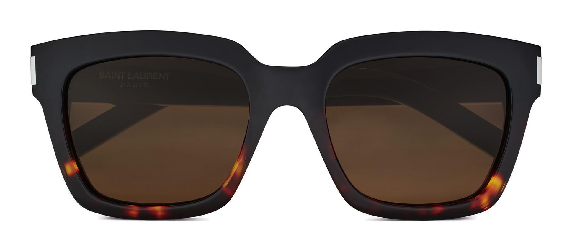707e40d44ec Yves Saint Laurent - Bold SL1 Sunglasses with Square Thick Frames and Nylon  Lenses Brown and Havana - Saint Laurent Eyewear - Avvenice