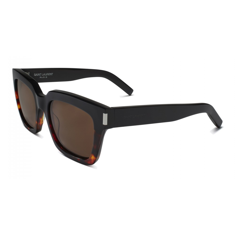 9707b2303ca ... Yves Saint Laurent - Bold SL1 Sunglasses with Square Thick Frames and  Nylon Lenses Brown and