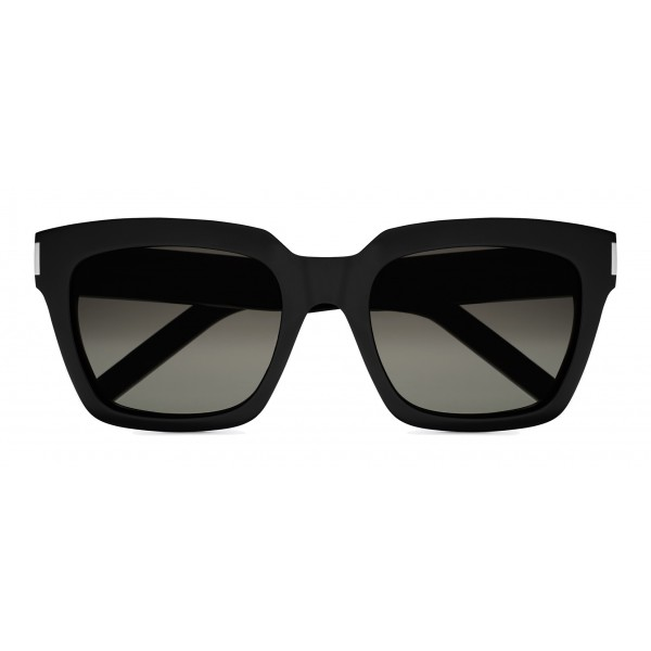 Yves Saint Laurent - Bold SL1 Sunglasses with Square Thick Frames and Nylon Lenses - Black - Saint Laurent Eyewear