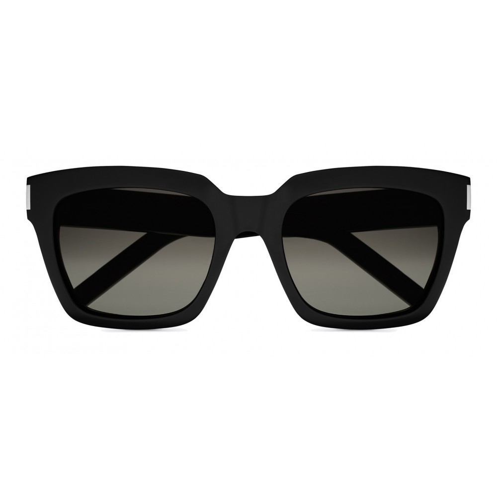 db730f2b690 Yves Saint Laurent - Bold SL1 Sunglasses with Square Thick Frames and Nylon  Lenses - Black - Saint Laurent Eyewear - Avvenice